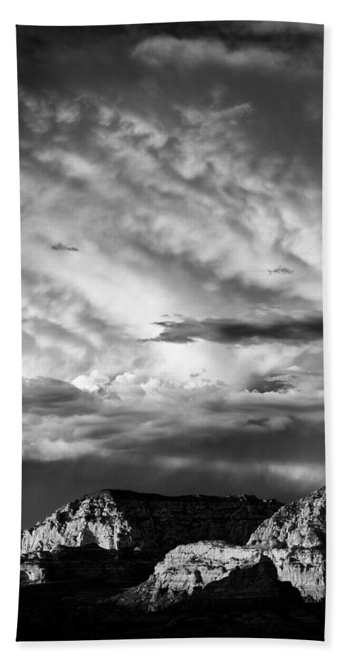 Sedona Beach Towel featuring the photograph Storm Over Sedona by Dave Bowman