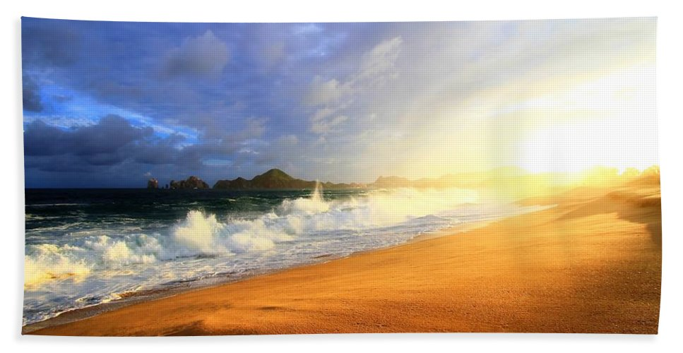 Storm Beach Towel featuring the photograph Storm Power by Eti Reid