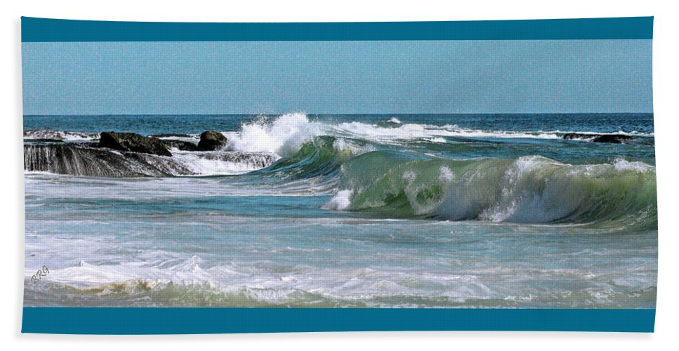 Seascape Beach Towel featuring the photograph Stormy Lagune - Blue Seascape by Ben and Raisa Gertsberg
