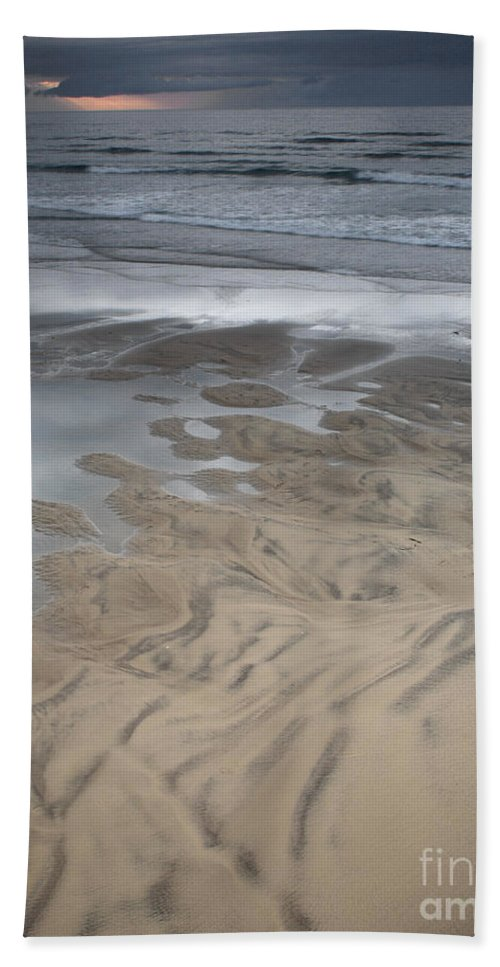 Beach Beach Towel featuring the photograph Stormy Skies Over The North Sea by Deborah Benbrook