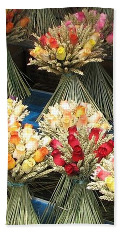 Flowers Beach Towel featuring the photograph Straw Bouquets by Carla Parris