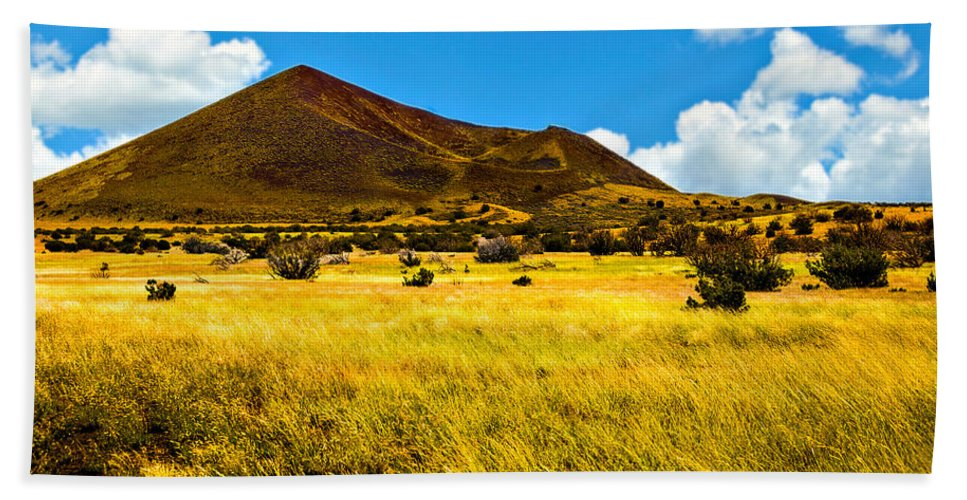 Arizona Beach Towel featuring the photograph Strawberry Crater Sunset Wupatki National Monument by Bob and Nadine Johnston