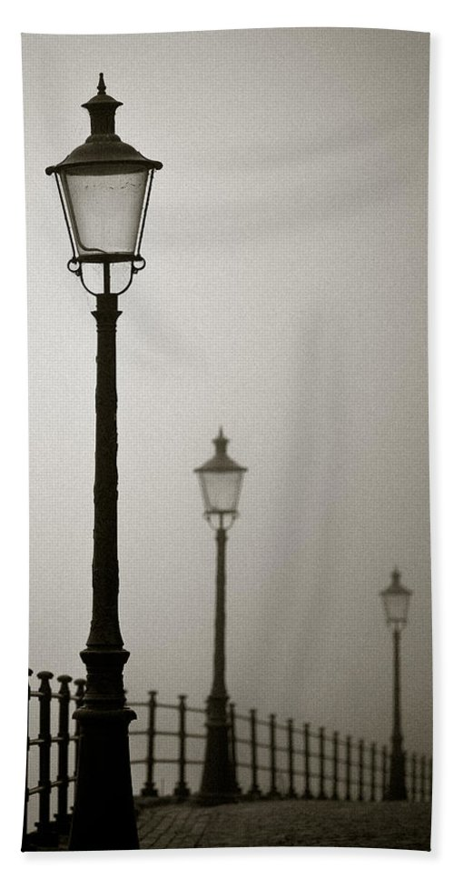 Maastricht Beach Towel featuring the photograph Street Lamps by Dave Bowman