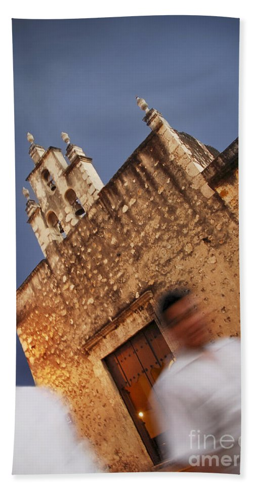 Church Beach Towel featuring the photograph Streets Of Merida by Gabriel G Medina
