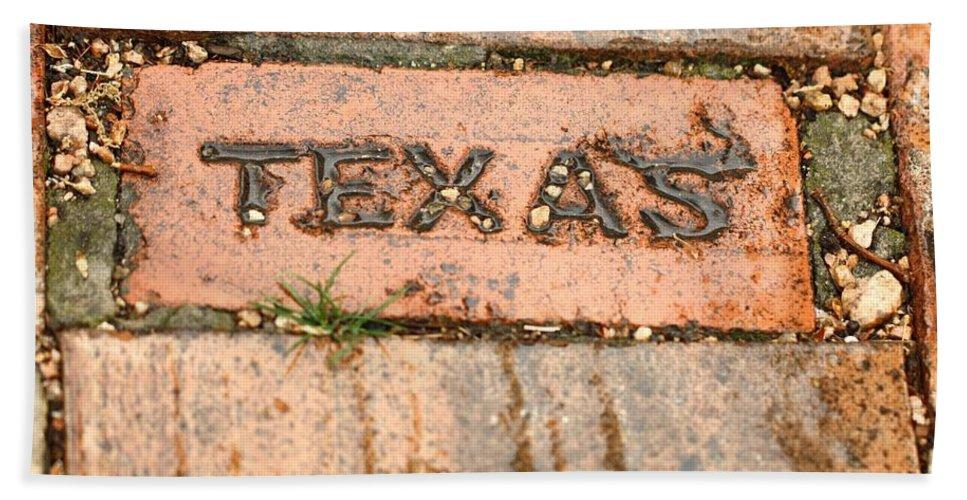 Brick Beach Towel featuring the photograph Stroll Down Texas Lane by Terry Fleckney