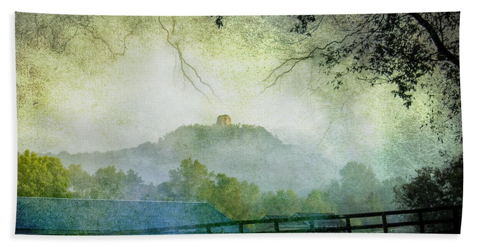 Landscape Beach Towel featuring the photograph Sugarloaf And Fog by Al Mueller