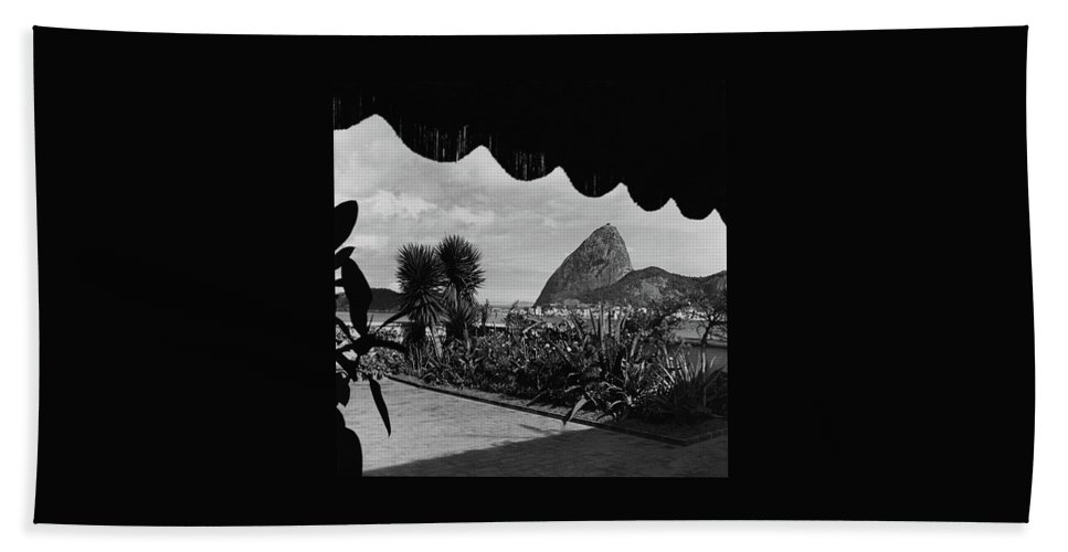 Sugarloaf Mountain Seen From The Patio At Carlos Beach Towel