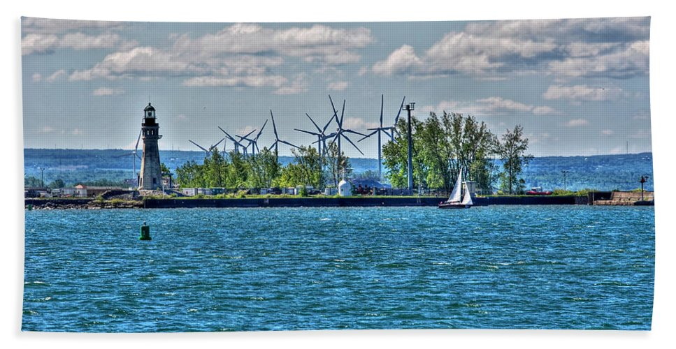 Lighthouse Beach Towel featuring the photograph Summer Breeze From Lasalle Park by Michael Frank Jr