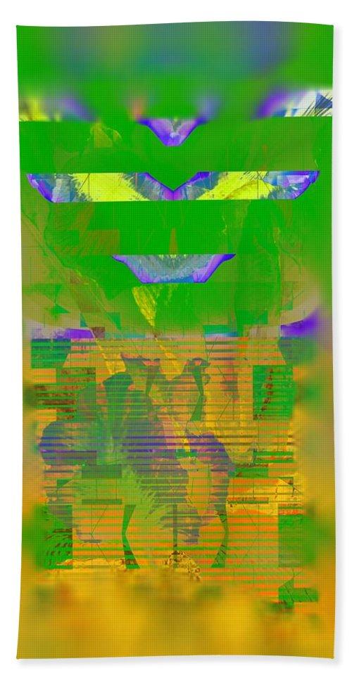 Abstract Beach Towel featuring the digital art Summer Heat Through The Window by Georgiana Romanovna
