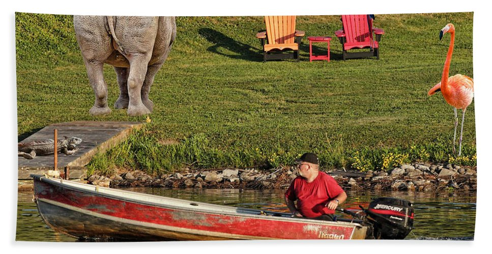 Summer.morning Beach Towel featuring the photograph Summer Morning On Muskoka River by Les Palenik