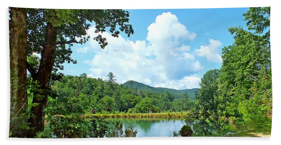 Duane Mccullough Beach Towel featuring the photograph Summer Mountain Pond 2 by Duane McCullough