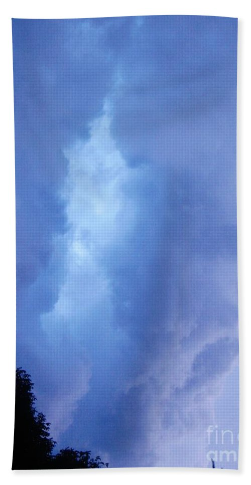 Summer Storm Clouds Beach Towel featuring the photograph Summer Storm Clouds by Janell R Colburn