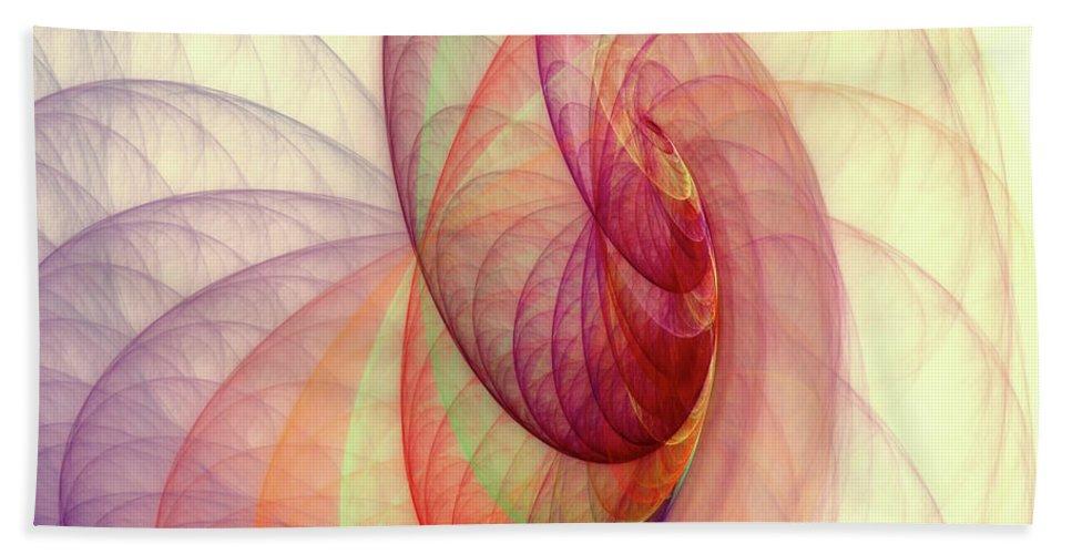 Fractal Beach Towel featuring the digital art Summer Sun by Angela Stanton