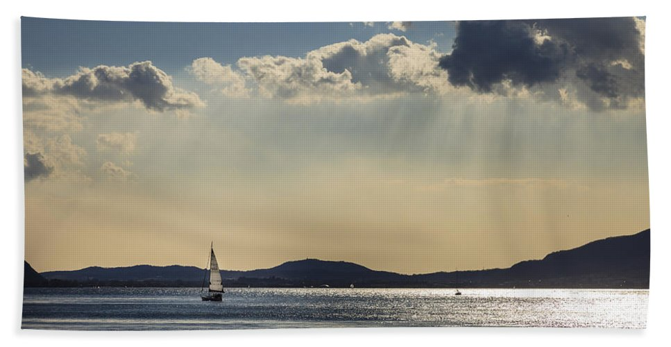 Sun Beach Towel featuring the photograph Sunbath by Alfio Finocchiaro