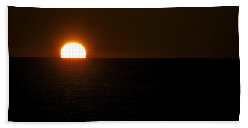 Lake Michigan Beach Towel featuring the photograph Sundown Gleaming by Thomas Woolworth
