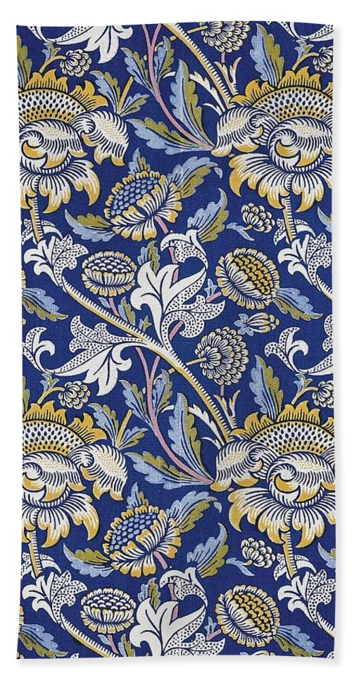 5c43f9e8a6e0 William Beach Towel featuring the digital art Sunflowers Design by William  Morris