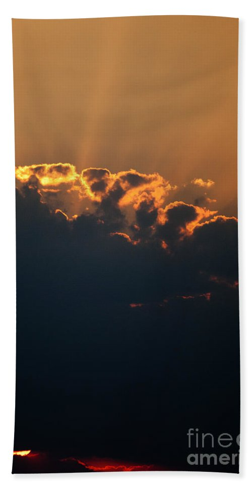 Air Beach Towel featuring the photograph Sunny Clouds by Alan Look