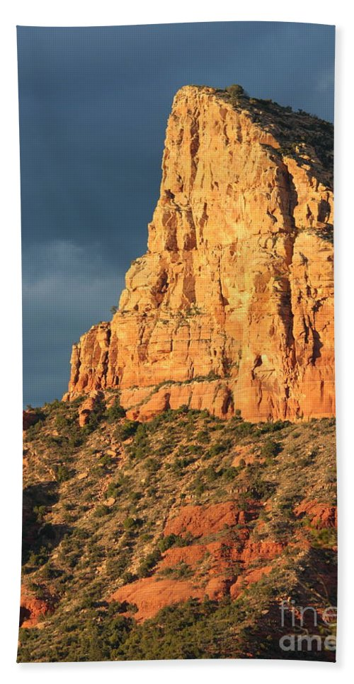Sedona Beach Towel featuring the photograph Sunny Side Of Sedona by Carol Groenen