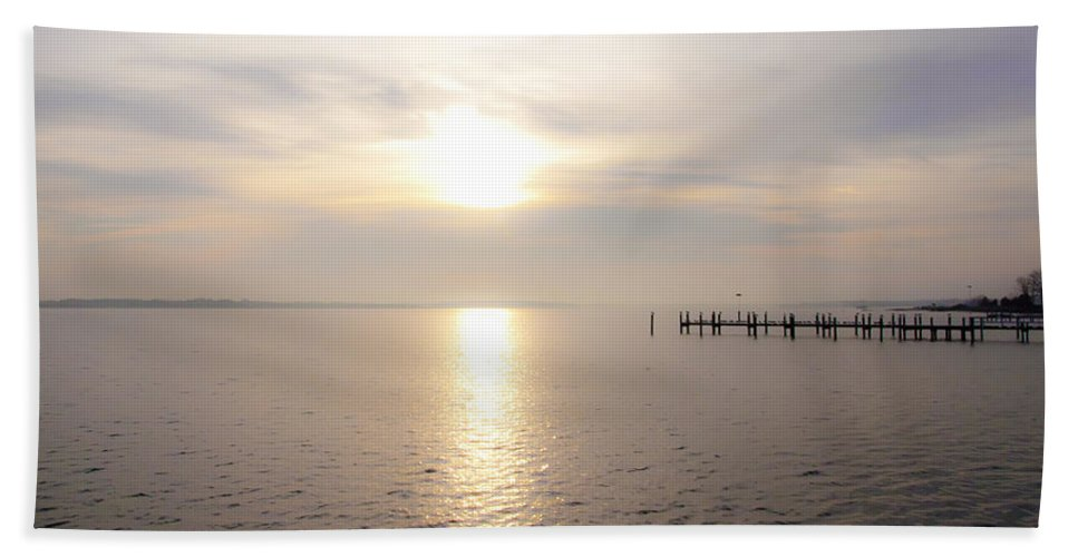 Sunrise Beach Towel featuring the photograph Sunrise In Maryland by Bill Cannon