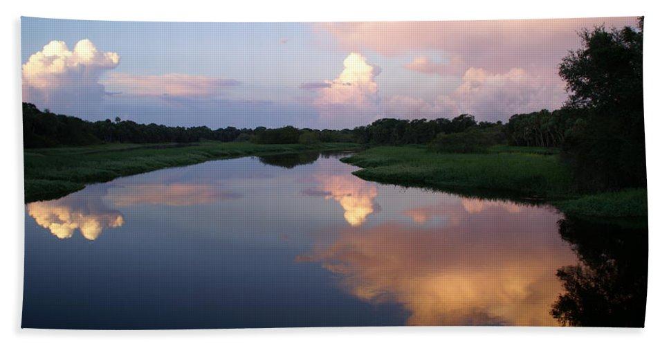 Sunrise Beach Towel featuring the photograph Sunrise In Sarasota by Patricia Twardzik