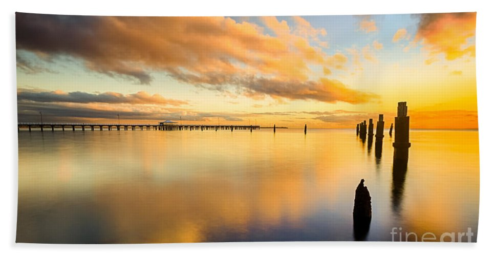 Nature Beach Towel featuring the photograph Sunrise Reflections by Silken Photography