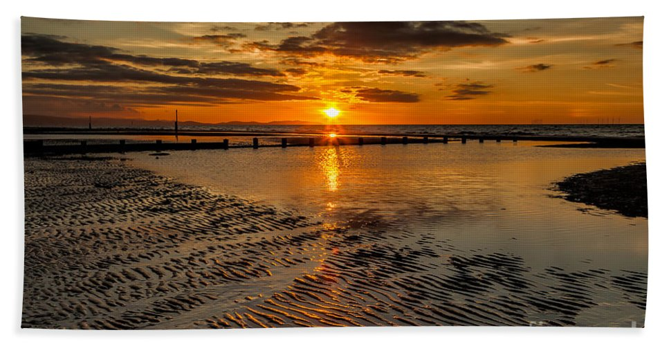 British Beach Towel featuring the photograph Sunset by Adrian Evans