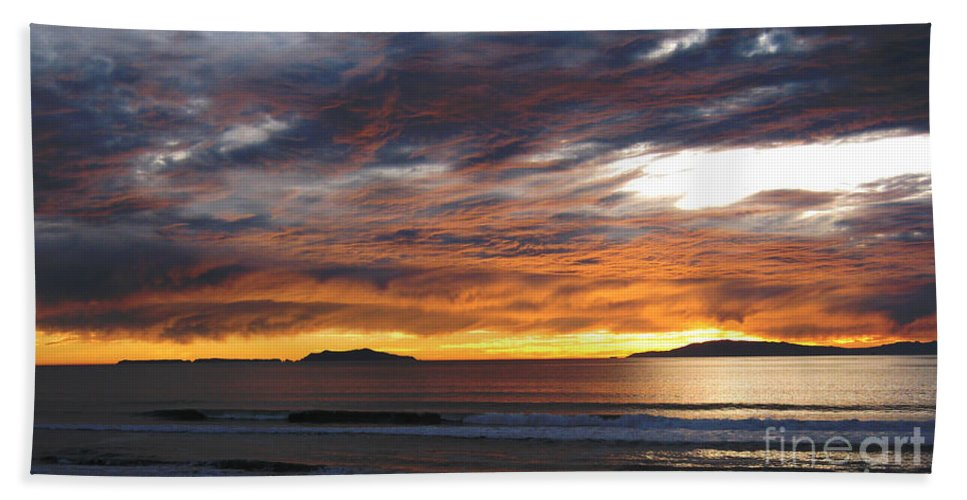 Sunset Beach Towel featuring the photograph Sunset At The Shores by Janice Westerberg