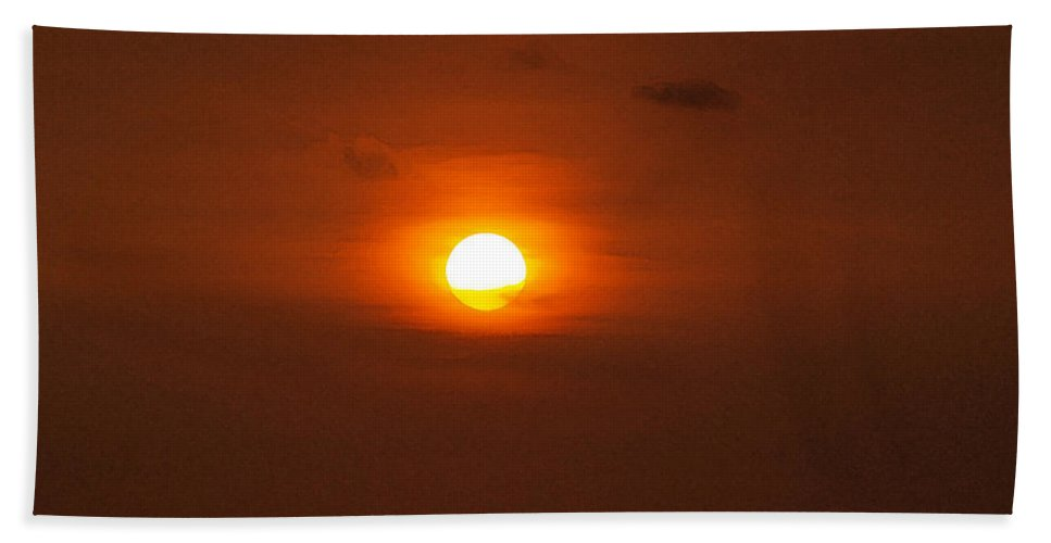 Sunset Photographs Beach Sheet featuring the photograph Sunset by Athala Carole Bruckner