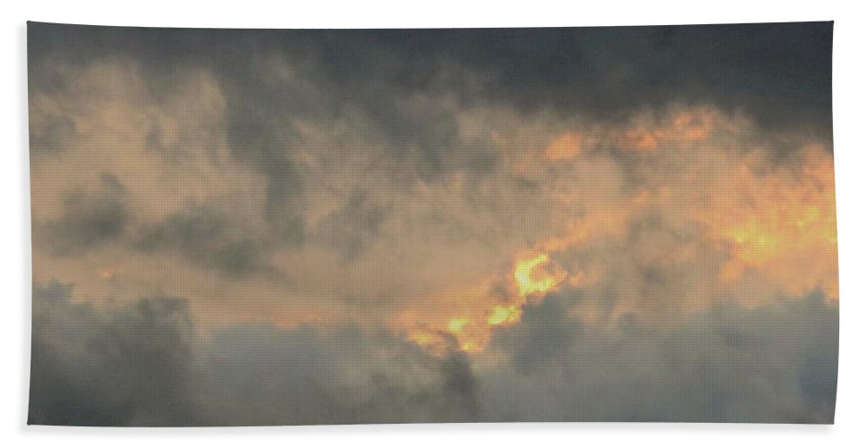 Clouds. Clouds At Sunset Beach Towel featuring the photograph Sunset Cloud Formations by Leanne Seymour