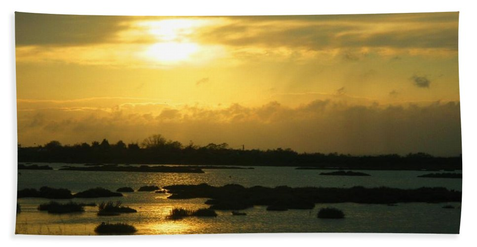 Photograph Beach Towel featuring the photograph Sunset In Camargue - France by Cristina Stefan