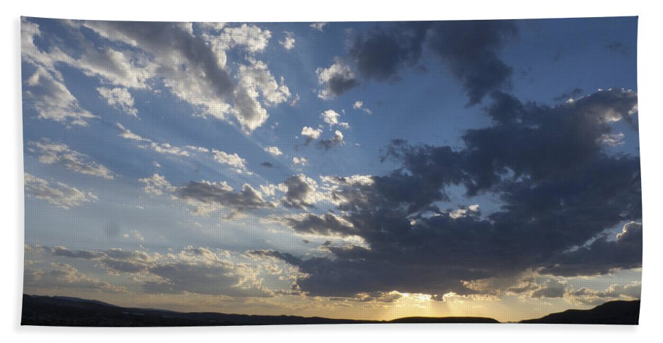 Sunset Beach Towel featuring the photograph Sunset In New Mexico by Susan Porter