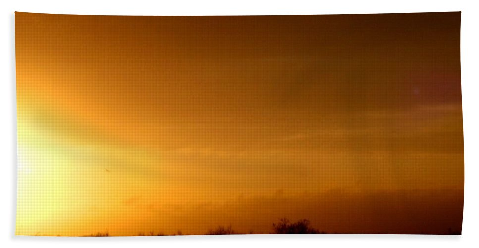 Photograph Beach Towel featuring the photograph Sunset In The South Of France by Cristina Stefan