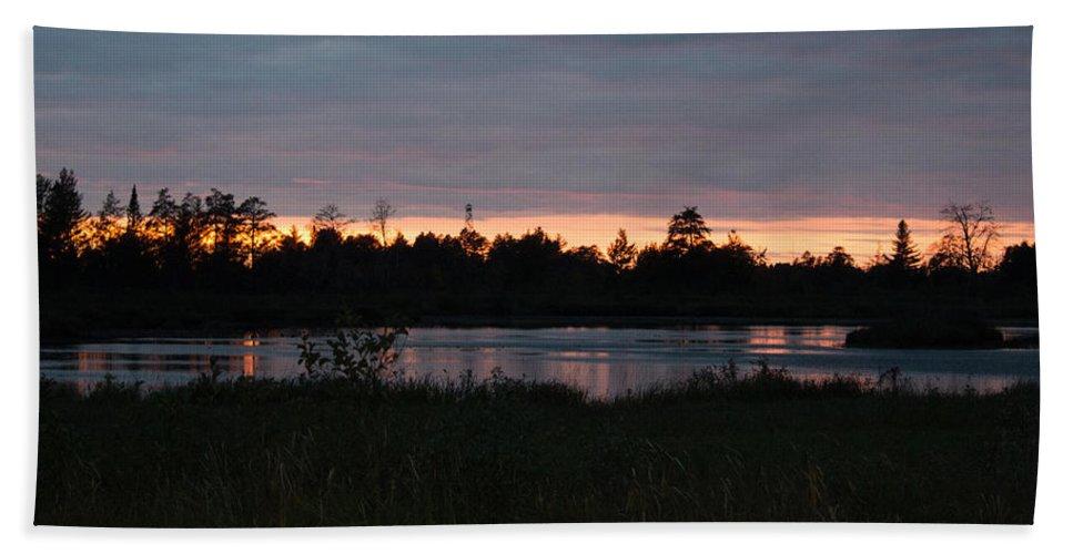 Sunset Beach Towel featuring the photograph Sunset by Linda Kerkau