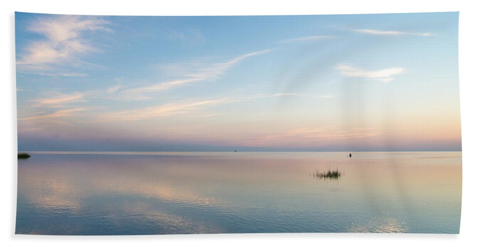 North Carolina Beach Towel featuring the photograph Sunset Of Blue by Stacy Abbott