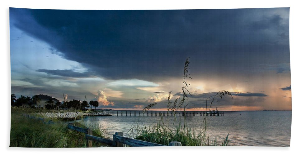 Sunset Beach Towel featuring the photograph Sunset On Tampa Bay by Norman Johnson
