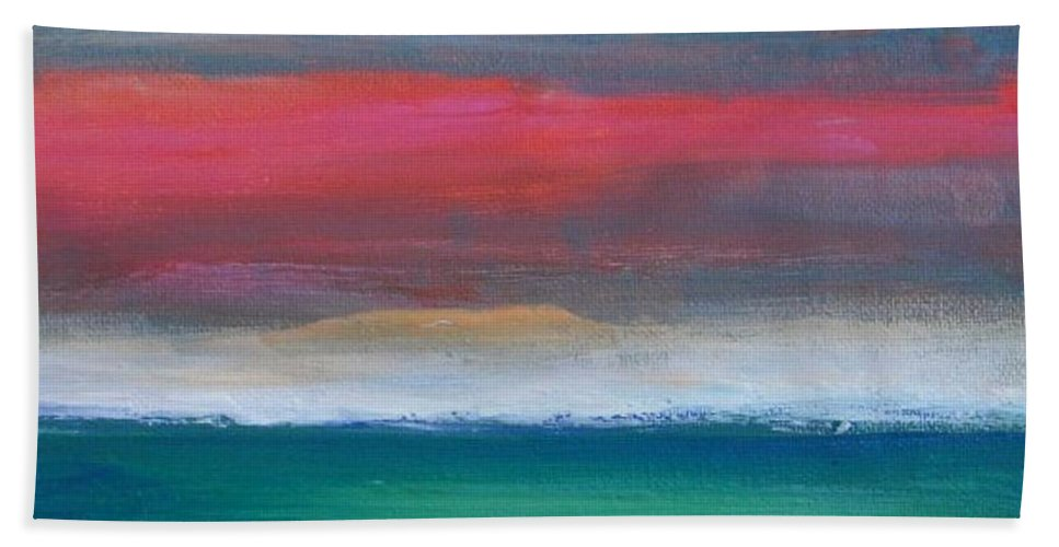 Abstract Beach Towel featuring the painting Divine Sky by Vesna Antic