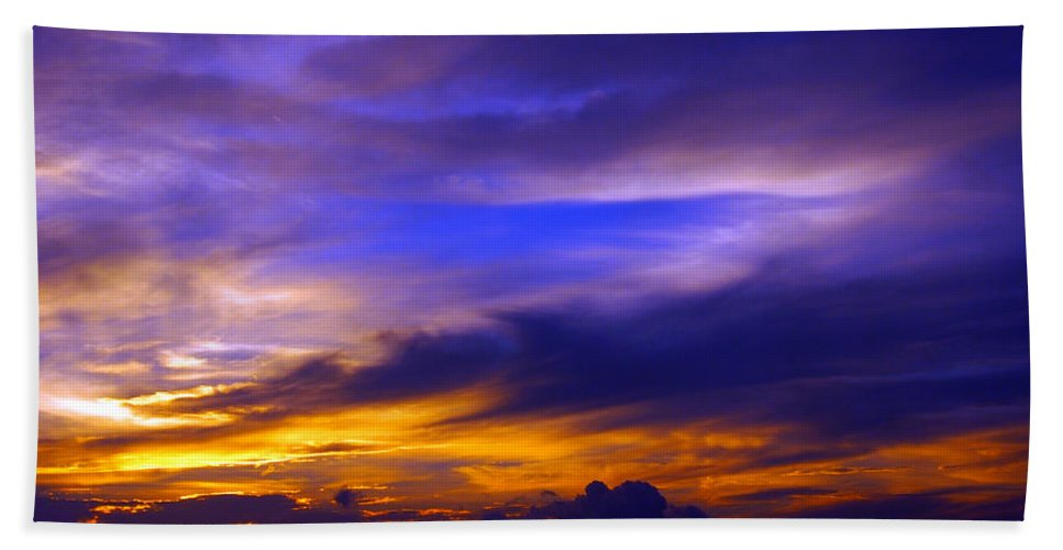 Sunset Beach Towel featuring the photograph Sunset Over Sea by Kaleidoscopik Photography