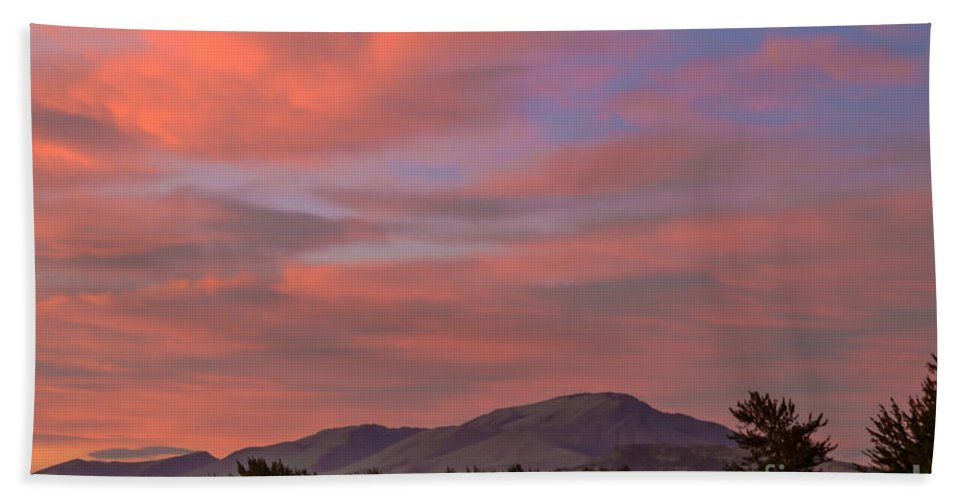 Gem County Beach Towel featuring the photograph Sunset Over Squaw Butte by Robert Bales