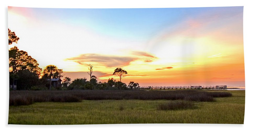 Sunset Beach Towel featuring the photograph Sunset Over St. Joe Bay by Norman Johnson