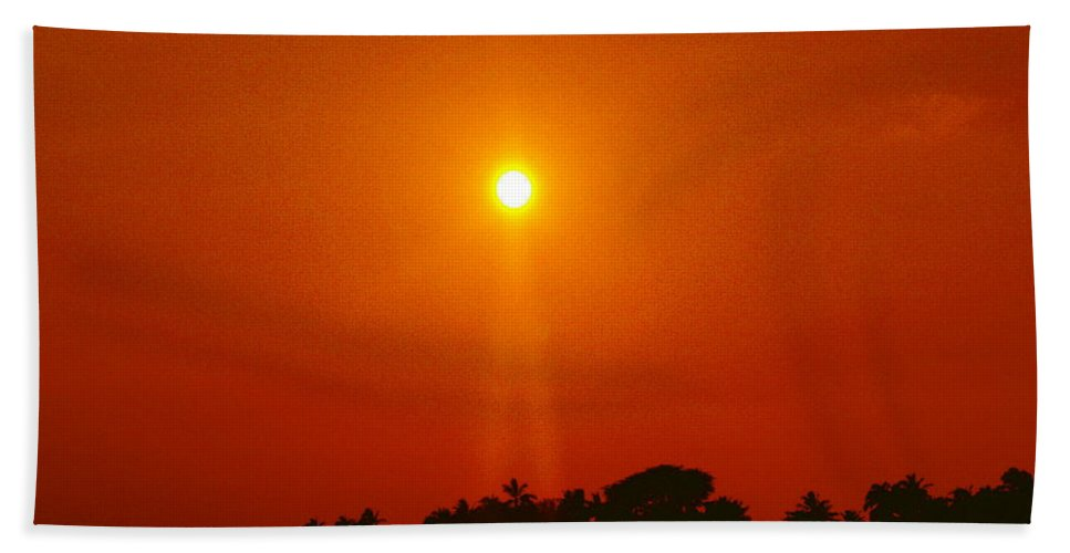 Sunset Pictures Beach Towel featuring the photograph Sunset Ride by Athala Bruckner