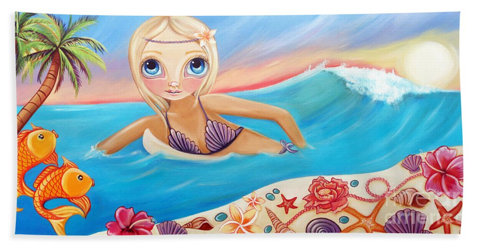 Sunset Beach Towel featuring the painting Sunset Surfer by Jaz Higgins
