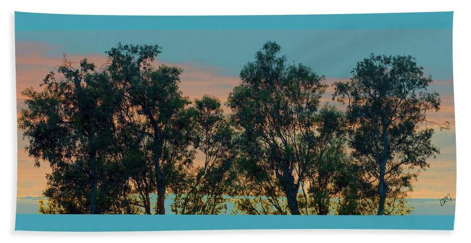 Tree Top Beach Towel featuring the photograph Sunset Trees by Ben and Raisa Gertsberg