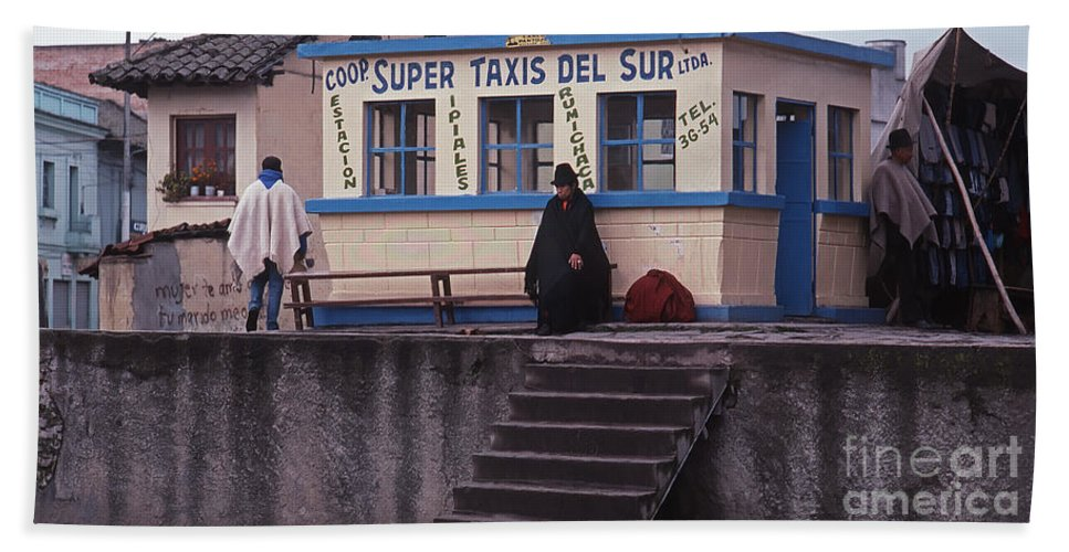 Super Taxi Stand Beach Towel featuring the photograph Super Taxi Stand by J L Woody Wooden