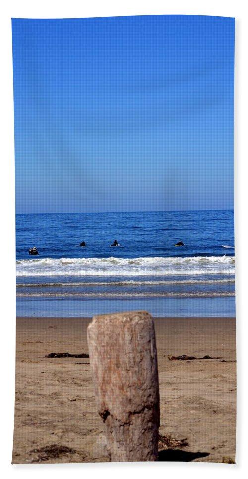 California Beach Towel featuring the photograph Surfers Waiting.... by Dean Ferreira