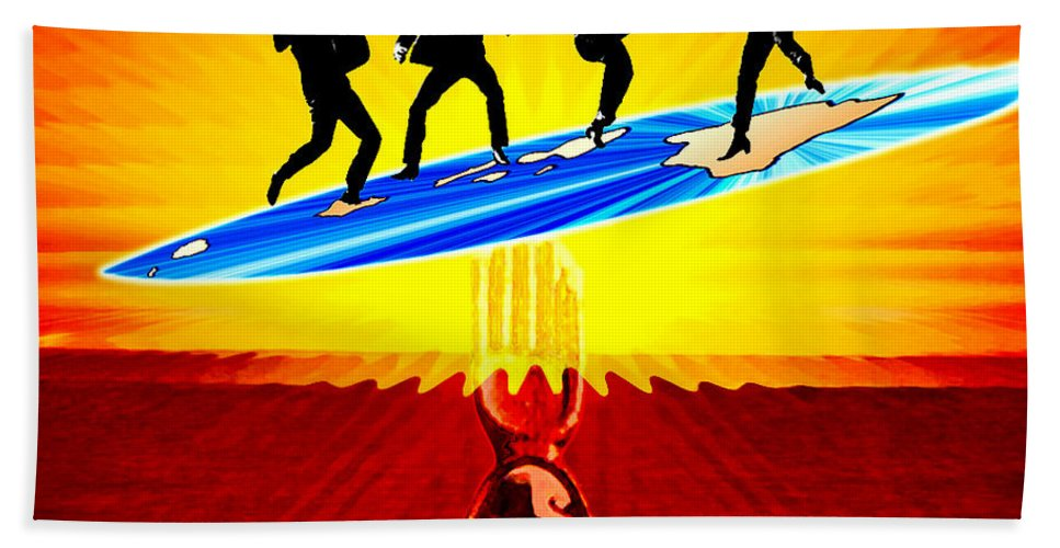 David Lawson Photography Beach Towel featuring the photograph Surfing For Peace by David Lawson