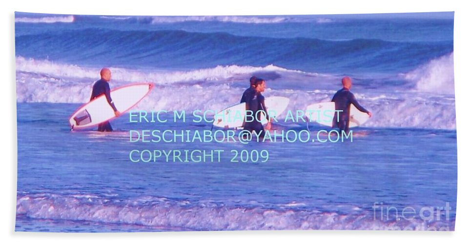 Nature Beach Towel featuring the photograph Surfs Up by Eric Schiabor