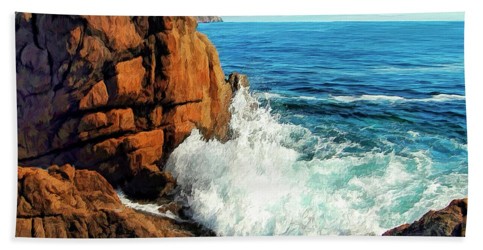 Surge Beach Towel featuring the painting Surge by Dominic Piperata