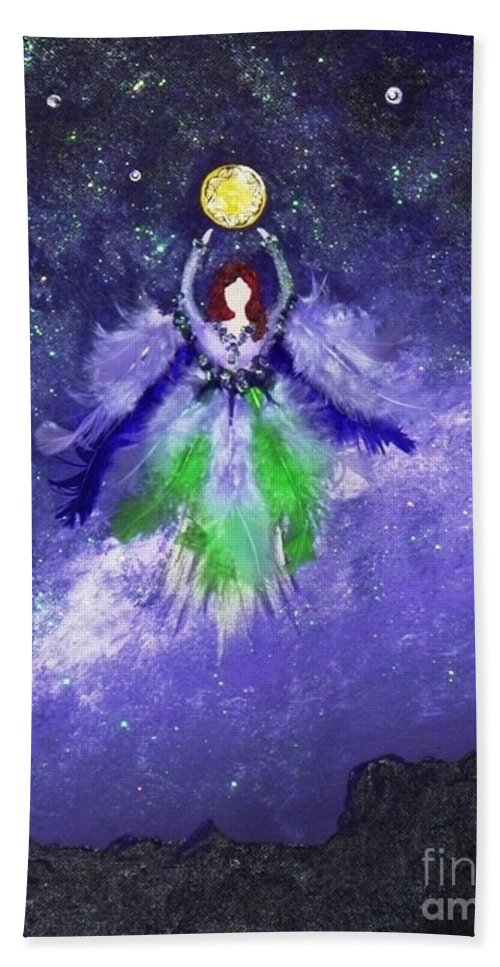 Mixed Media Beach Towel featuring the painting Survivor by Alys Caviness-Gober