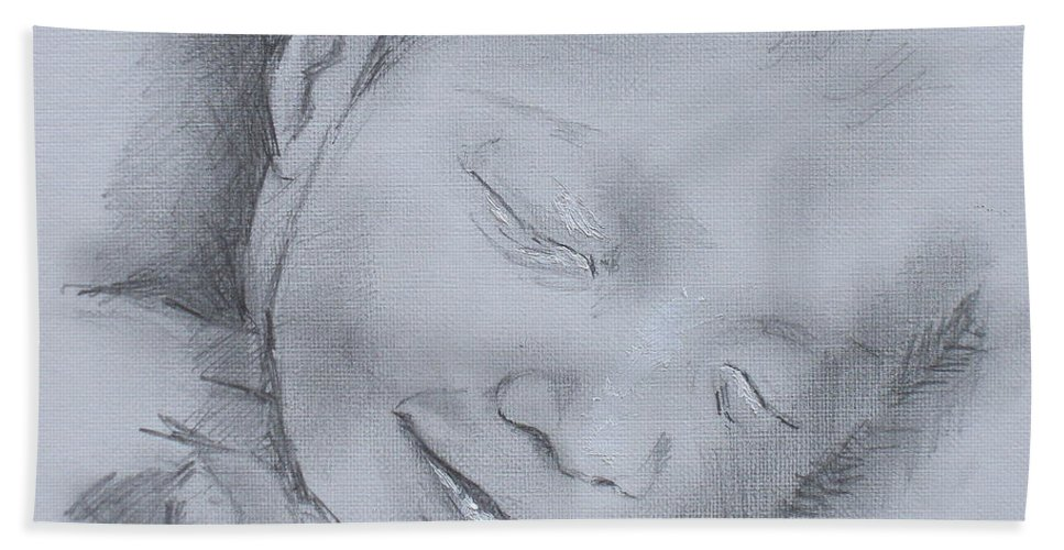 Sweet Dreams Beach Towel featuring the painting Sweet Dreams by Tomas Castano