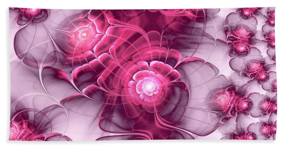 Plant Beach Towel featuring the digital art Sweet Sakura by Anastasiya Malakhova